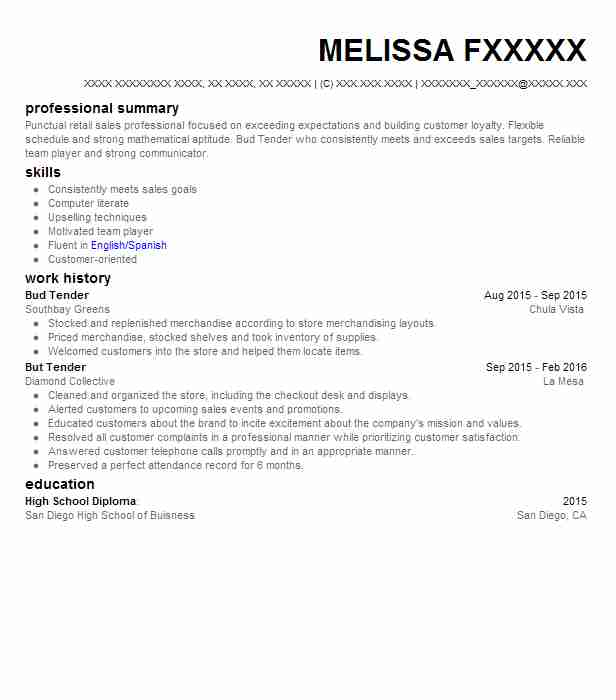 bud tender resume example canna health givers