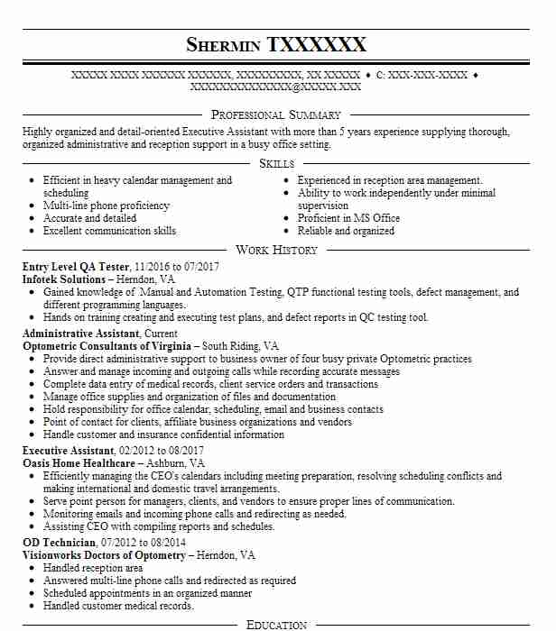 entry level qa tester resume sample