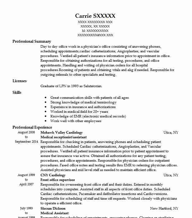 find resume examples in utica  ny
