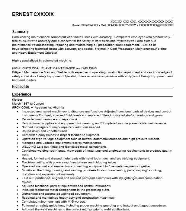 Welder Objectives | Resume Objective | LiveCareer