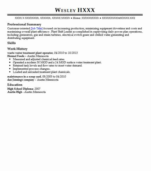 waste water treatment plant operator resume example texas a u0026m engineering extension service