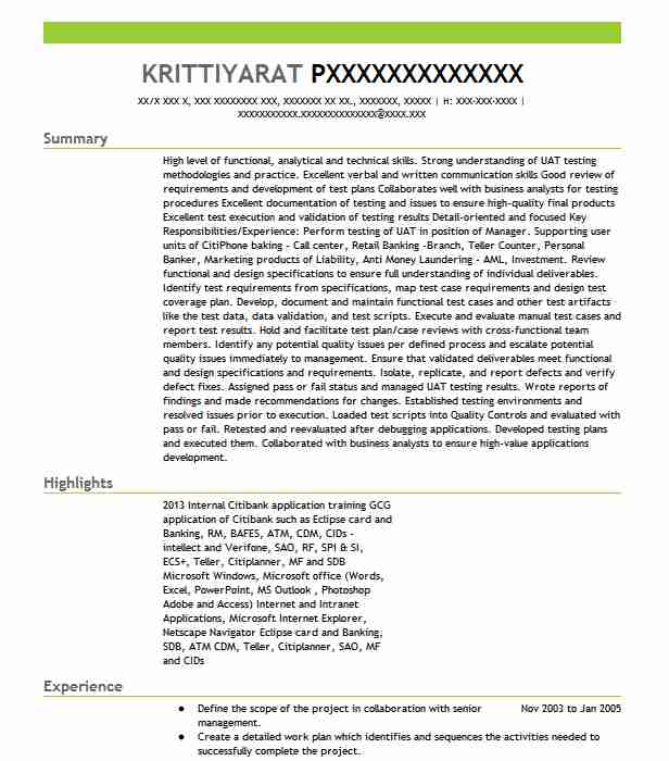 Agile Qa Tester Resume Sample: Uat Manager Resume Sample
