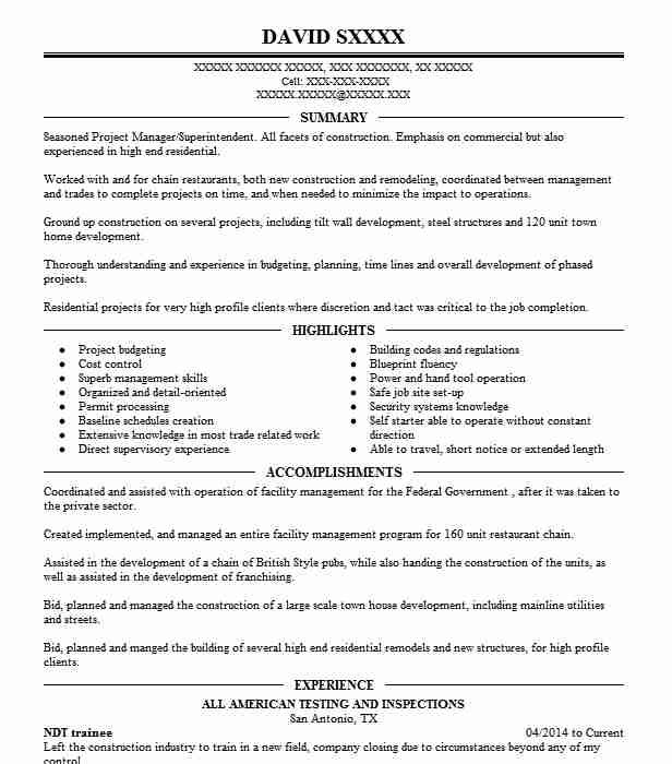 Ndt Trainee Resume Sample Resumes Livecareer