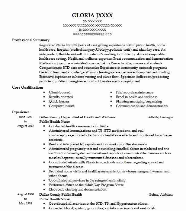 public health director resume example madera county