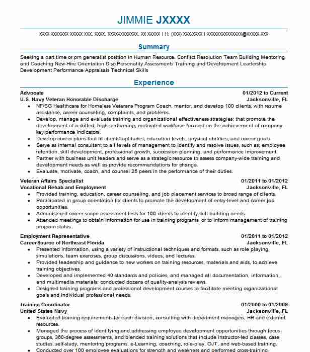 Advocate Resume Sample Technical Resumes Livecareer