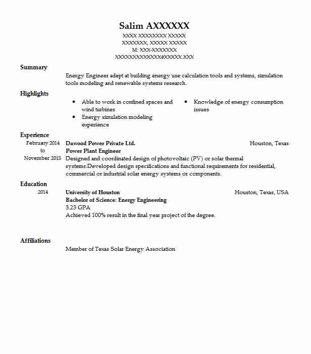 Power Plant Engineer Resume Sample | Engineering Resumes | LiveCareer
