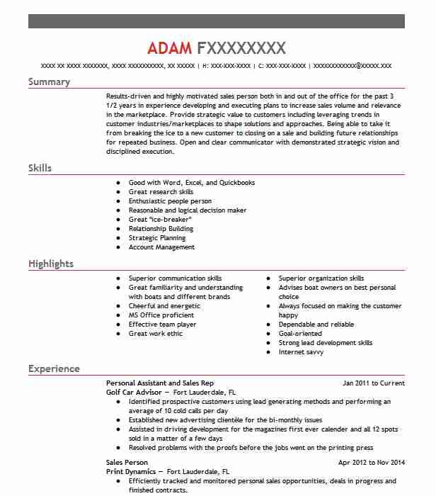 Advisor Resume Samples