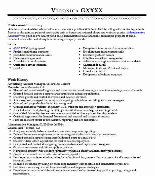 Advertising Account Manager Modesto Bee