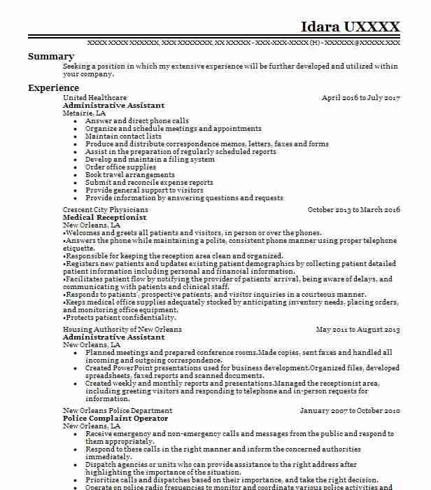 Resume For Office Assistant With No Experience