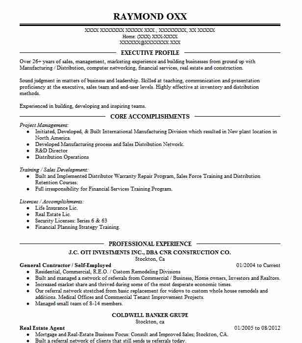 self employed contractor resume example cook construction