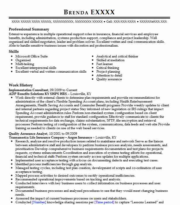 Implementation Consultant Resume Sample Livecareer
