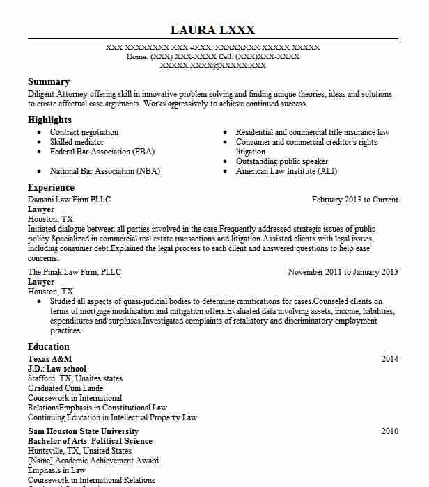 Indian Advocate Resume Samples Pdf
