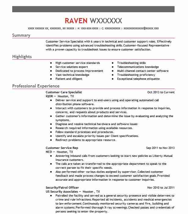 resume summary for customer service