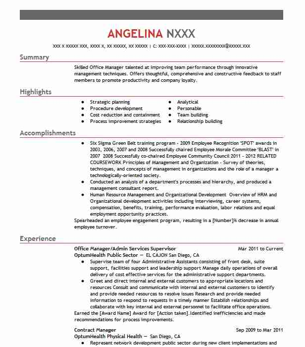 office services supervisor resume example protective