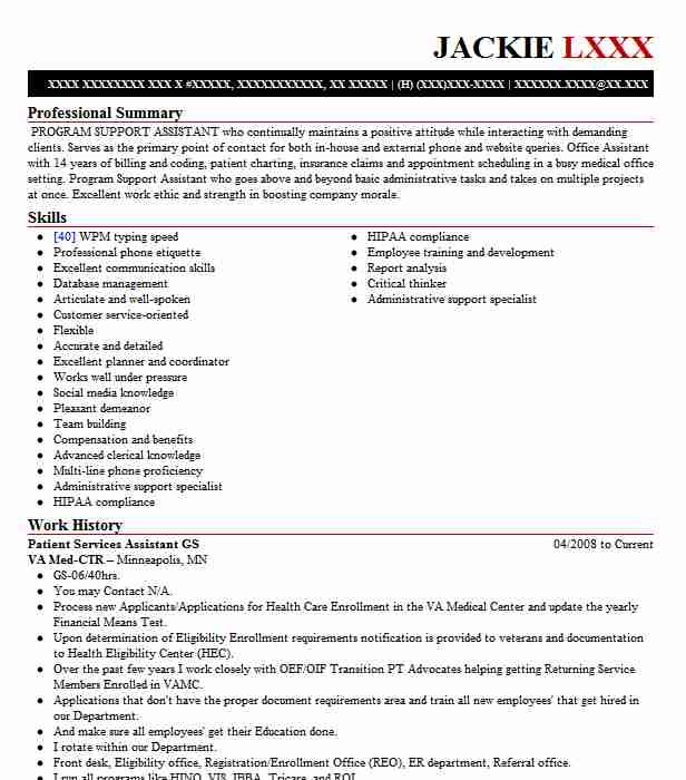 patient services assistant  psa  resume example ohiohealth