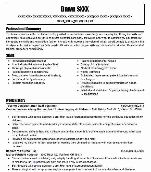 Volunteer Resume Samples