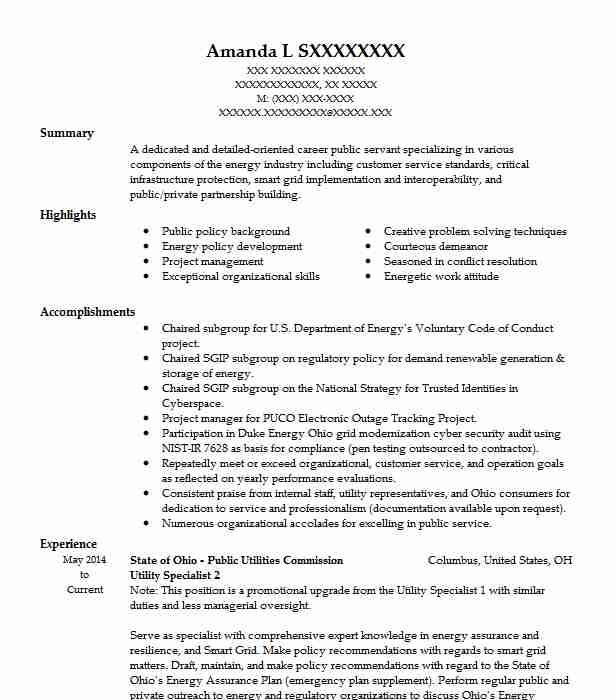 utility billing specialist resume example city of west