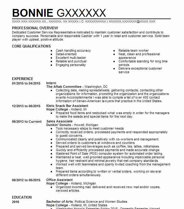 Political Science Resume Samples