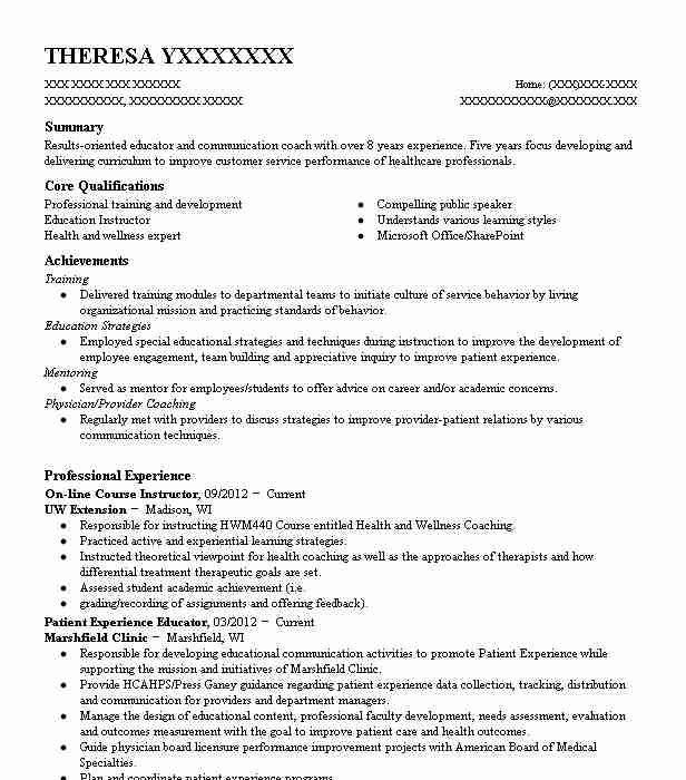 basic leader course  blc  primary instructor resume