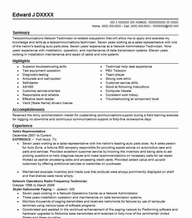 Best Sales Representative Resume Example