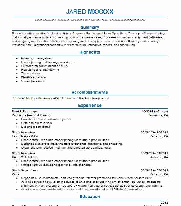 Food And Beverage Server Resume Sample Server Resumes