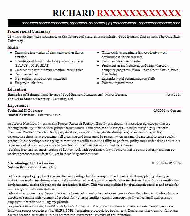 top agriculture and food scientists resume - Resume Sample Food Science