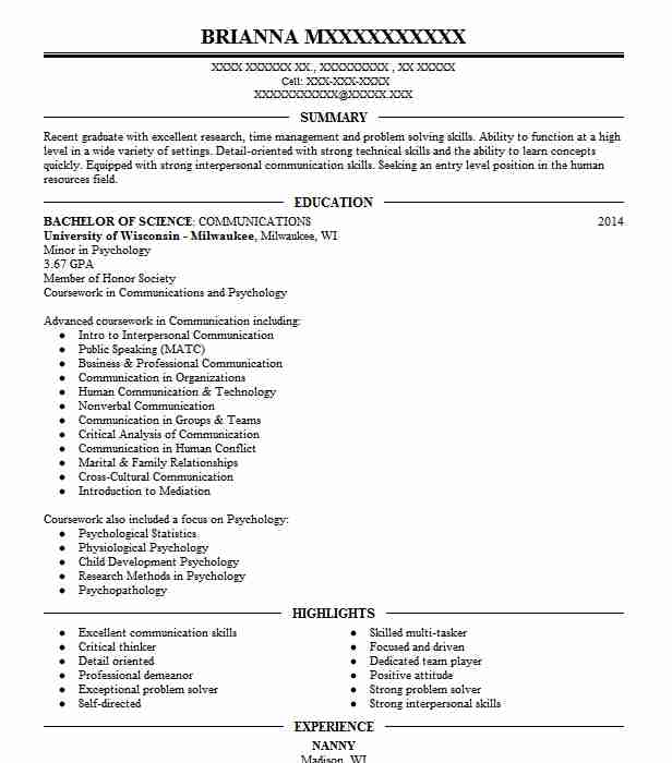 household manager  personal assistant resume example