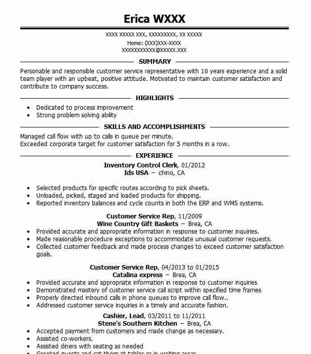 Inventory Control Clerk Resume Sample | Clerk Resumes | LiveCareer