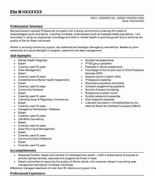 Clinical DBT Therapist Resume Example Aacres LLC - Tacoma ...