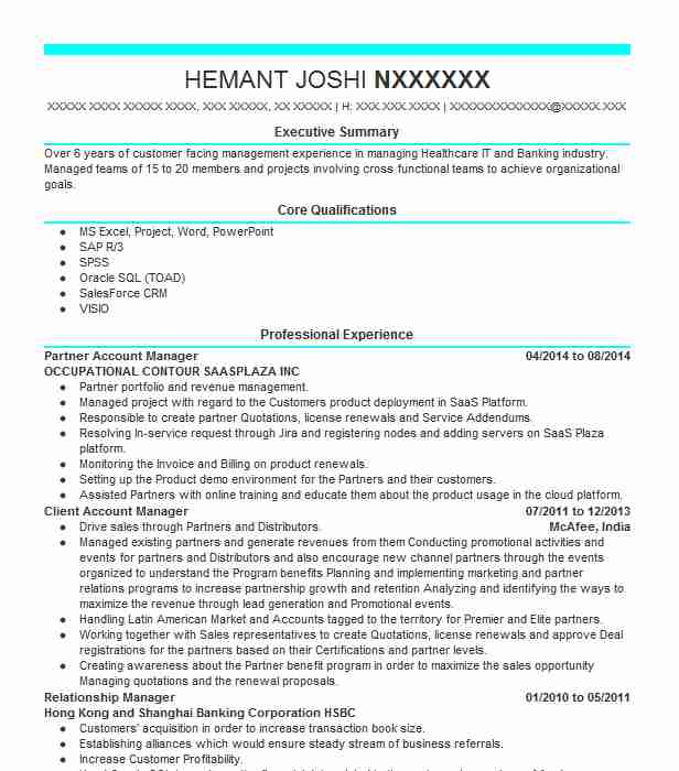 partner account manager resume example dell emc