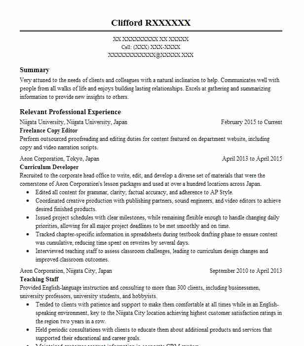 Freelance Copy Editor Resume Sample Editor Resumes