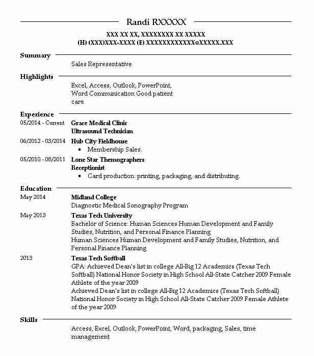 Best Ultrasound Technician Resume Example Livecareer