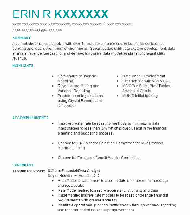Project Controller Resume Example (Deloitte) - Seattle, Washington
