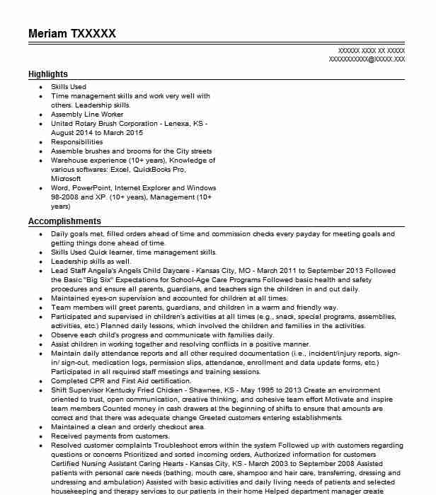 mail processing clerk resume sample