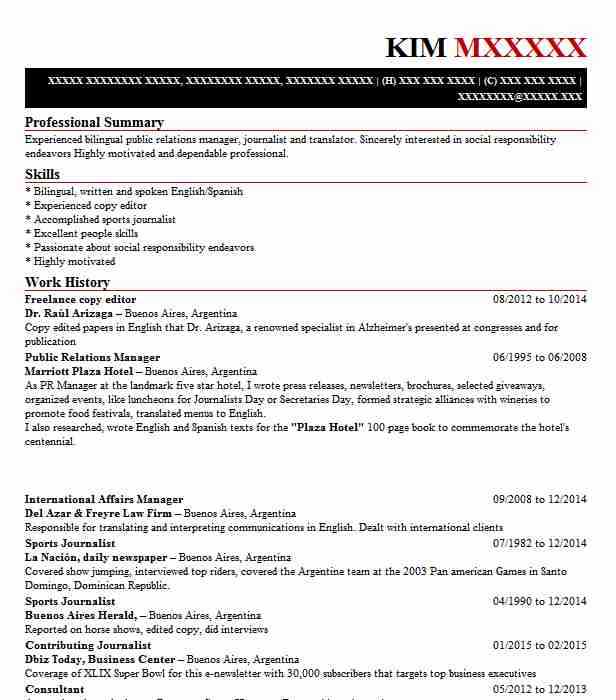 Freelance Copy Editor Resume Sample | Editor Resumes | LiveCareer