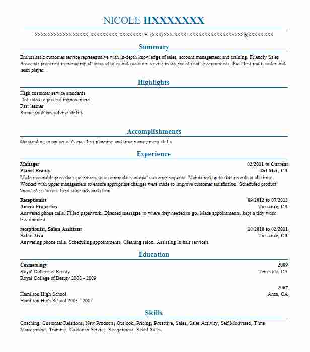 Eye Grabbing Manager Resume Samples