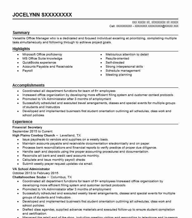 find resume examples in levelland tx livecareer