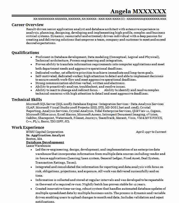 Informatica Developer Resume Example Carefirst