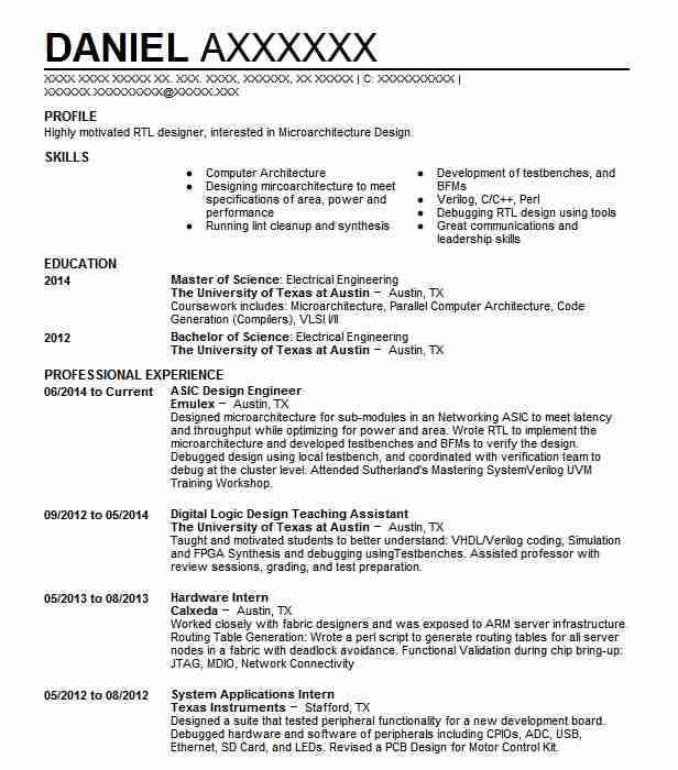 pcb design engineer resume format