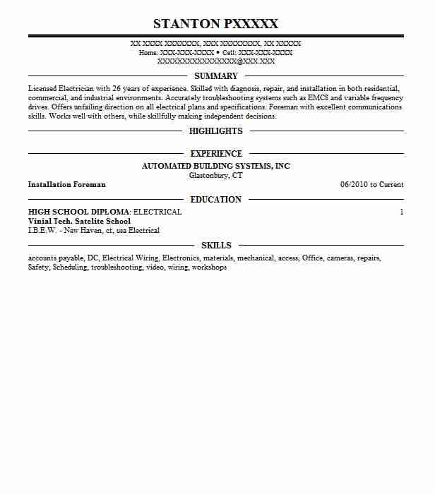 364 electricians construction resume examples in connecticut top electricians construction resume publicscrutiny Choice Image