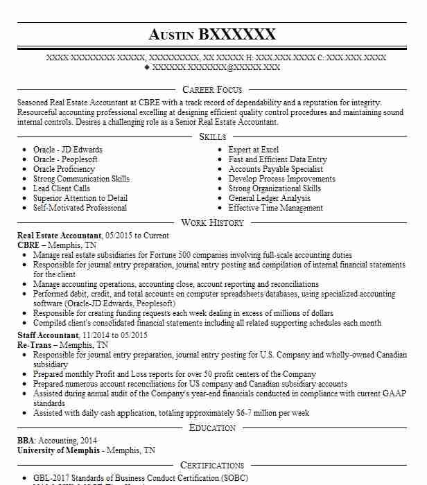 real estate accountant resume sample accountant resumes livecareer