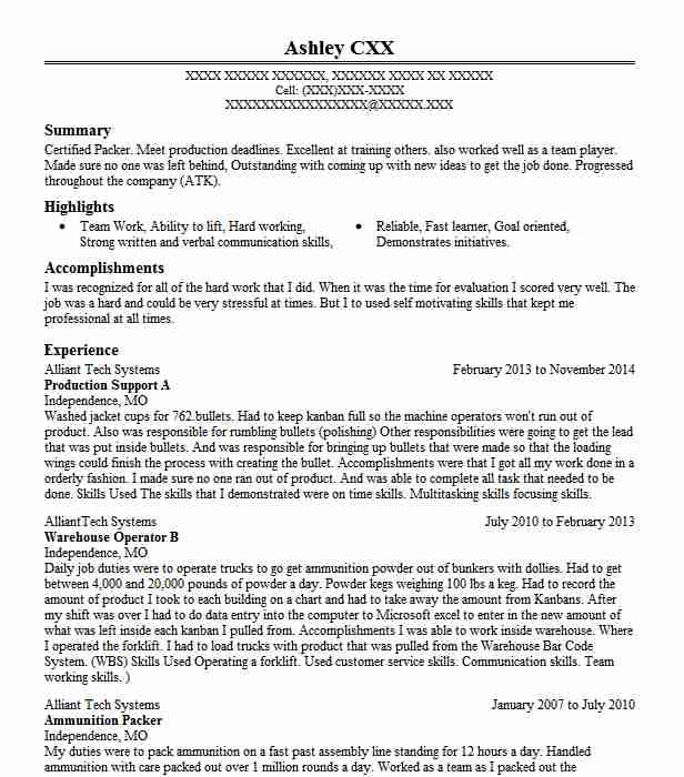 Production Support Resume Example L3 Technologies