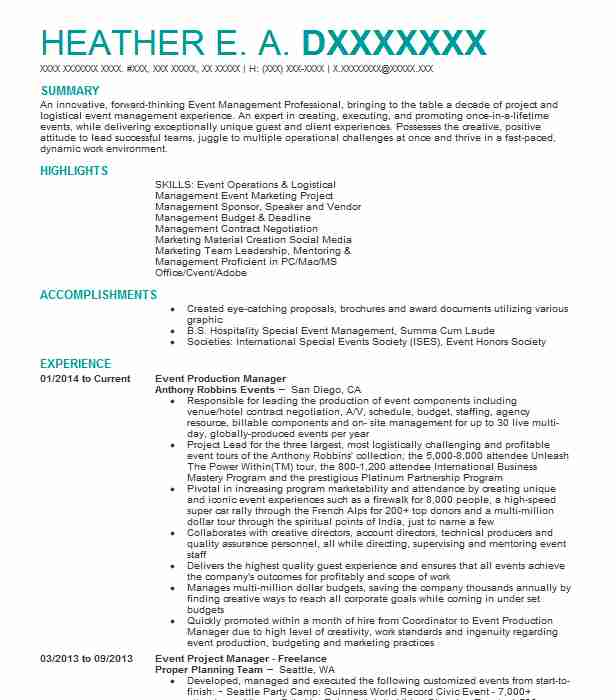 trade show and event presentations manager resume example compu trainer
