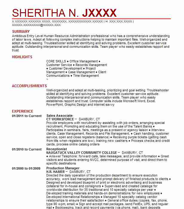 Create My Resume  Veterinary Receptionist Resume
