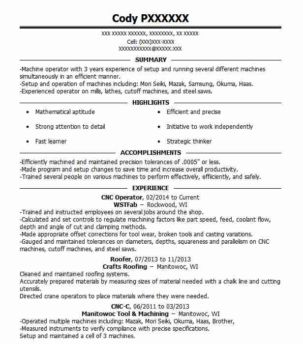 Find Resume Examples in Whitelaw, WI | LiveCareer