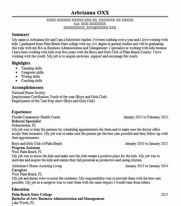 referral specialist resume sample