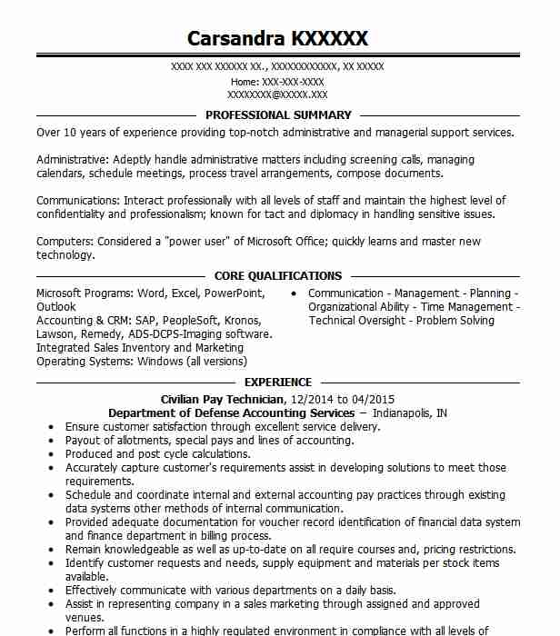 civilian pay technician resume example 47 cpts fmfcp