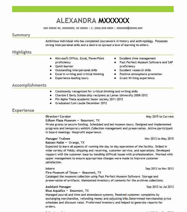 curator resume example the museum of modern art