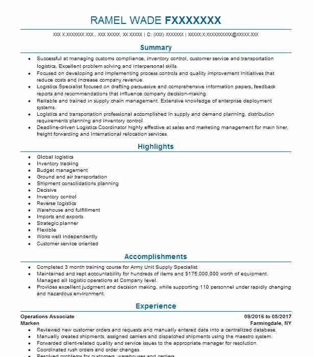 operations associate objectives