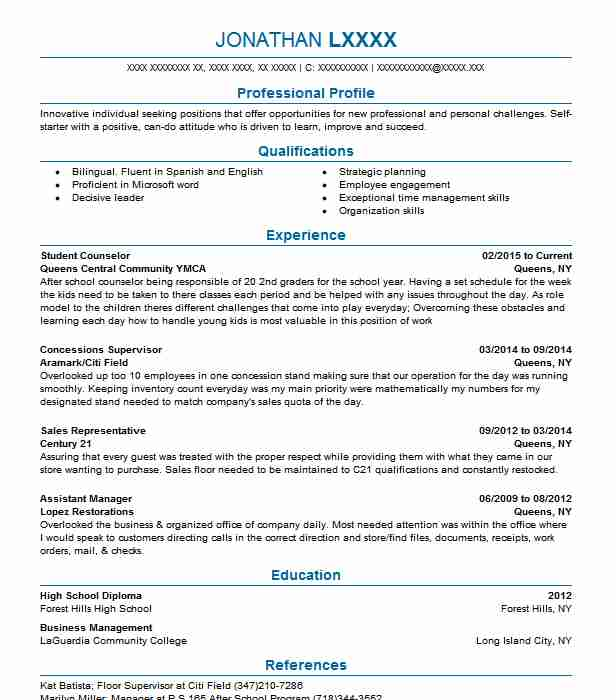 student counselor resume sample counselor resumes livecareer